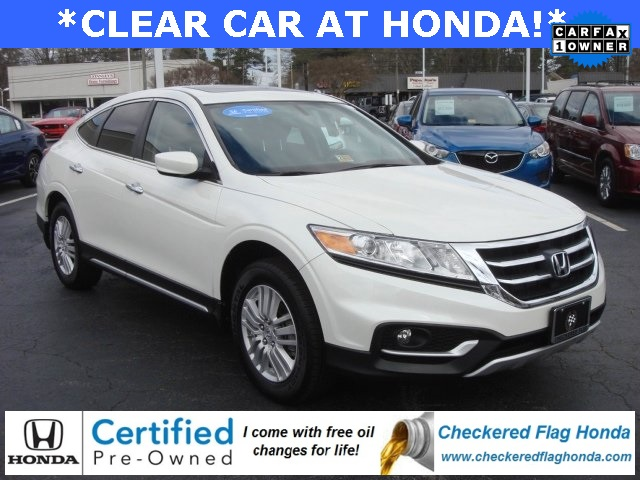 certified pre owned 2015 honda crosstour ex 4d sport utility in norfolk wcl25946a checkered. Black Bedroom Furniture Sets. Home Design Ideas